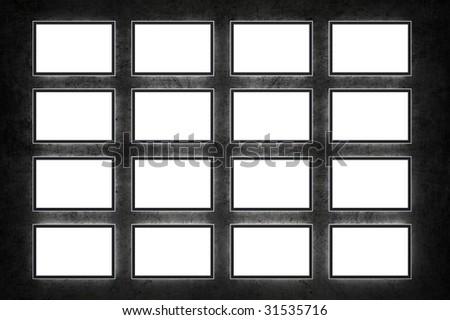 Blank TVs - stock photo