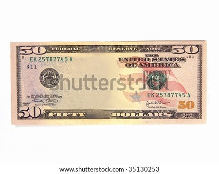 Blank US Dollar Bill (Add your own picture) - stock photo