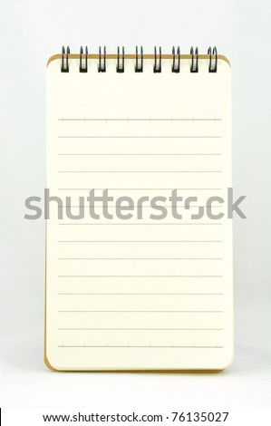 Blank vertical note book - stock photo