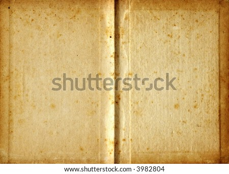 Blank vintage pages of open book
