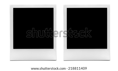 Blank Vintage Photo Frames. - stock photo