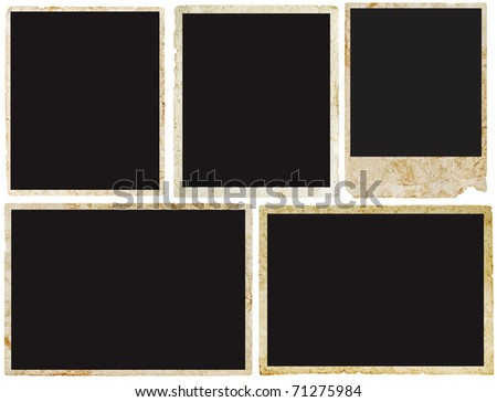 blank vintage photo ready to be populated with any image. - stock photo