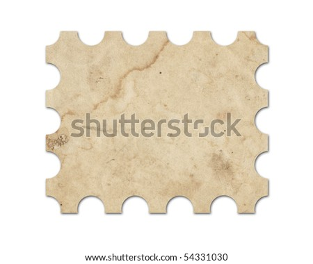 Blank vintage post stamp. Saved with clipping path. - stock photo