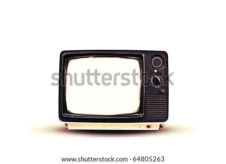 blank vintage tv - stock photo