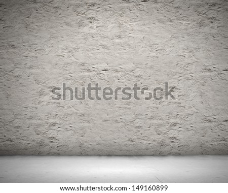 Blank wall made of stone. Place for text - stock photo