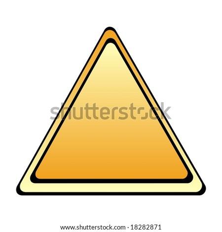 Blank warning sign - stock photo