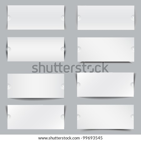 Blank web banners - stock photo