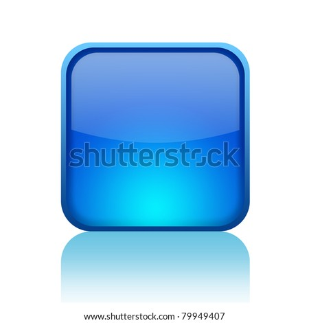 Blank web button - stock photo