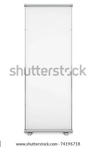 Blank White Banner - 3d illustration