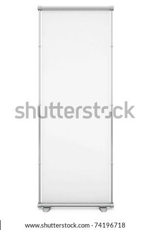 Blank White Banner - 3d illustration - stock photo