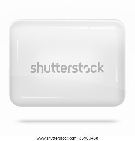 Blank White Board Float - stock photo