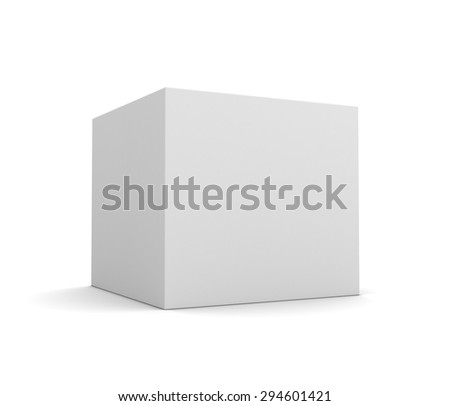 blank white box - stock photo