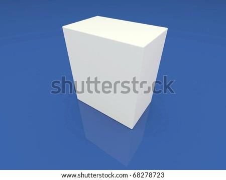 Blank white box - stock photo