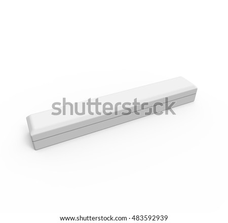 Blank white box for jewelry or other goods, isolated on white background. Mockup for your design. 3D illustration