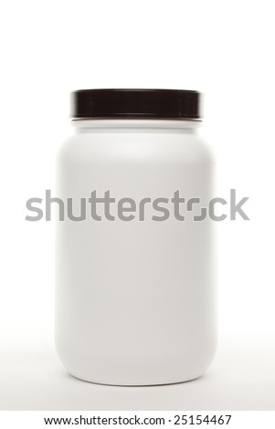 Blank White Canister Ready for Your Own Label or Design.