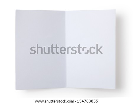 blank white card - stock photo