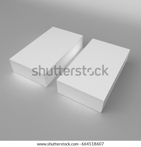 Blank white 3 d visiting card template stock illustration 664518607 blank white 3d visiting card template 3d render illustration for mock up and design presentation wajeb Gallery