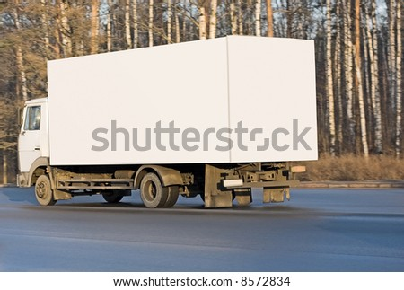 "blank white delivery van truck deliver goods of my ""business vehicles"" series"