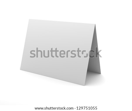 Blank White Desk Display Isolated on the White Background - stock photo