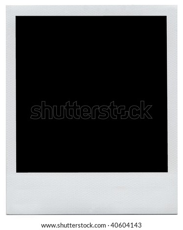 Blank white instant photo frame with clipping path