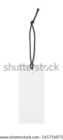 Blank white label tag