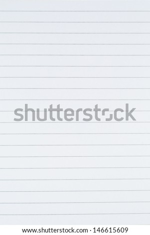 Blank white lined paper sheet background or textured - stock photo