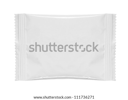 blank white product packaging on white bacground - stock photo
