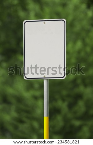 Blank white rectangular sign with space for copy. - stock photo