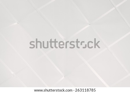 blank white ribboned memory board, blank and empty - stock photo