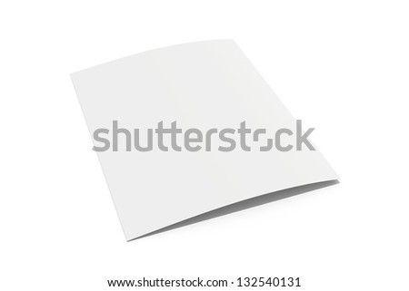 blank white sheet of paper folded - stock photo