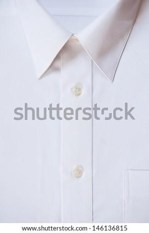 blank white shirt, closeup - stock photo