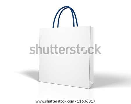 One Classic White Shopping Bag 3d Stock Illustration 85680157 ...
