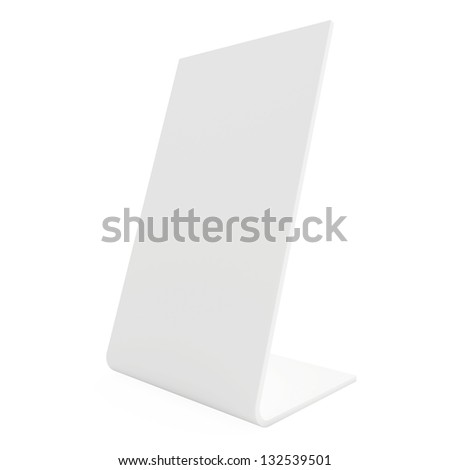 blank white stand - stock photo