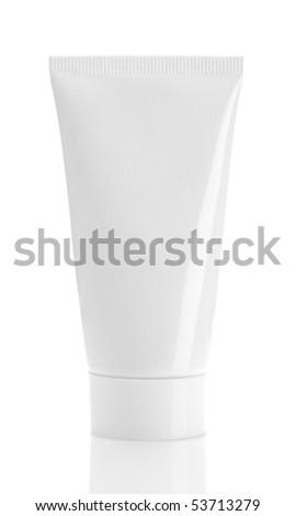 Blank White Tube - stock photo