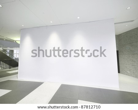 Blank white wall - stock photo