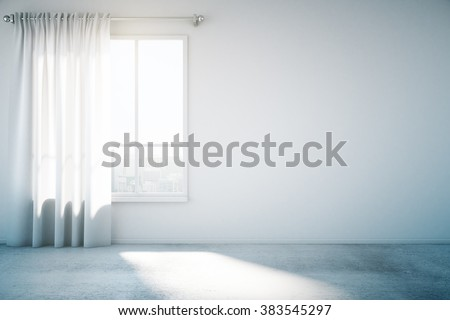 Blank White Wall Window Concrete Floor Stock Photo (Edit Now)  Shutterstock