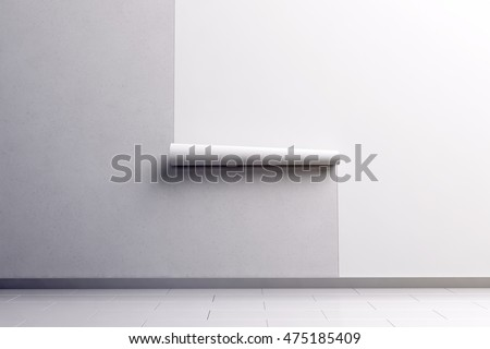 Blank White Wallpaper Hanging On The Wall Design Mock Up 3d Rendering Paperhanging