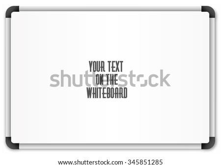 Blank whiteboard - stock photo