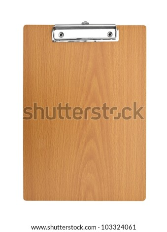blank wooden Clip board - stock photo