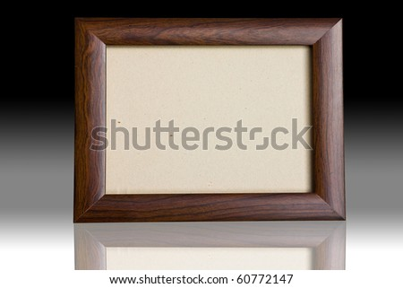 Blank wooden picture frame - stock photo