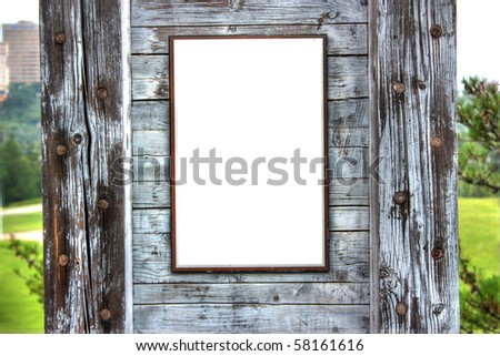 blank wooden sign - stock photo