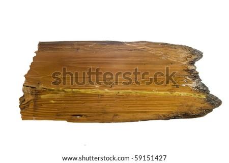 Blank wooden signboard - stock photo