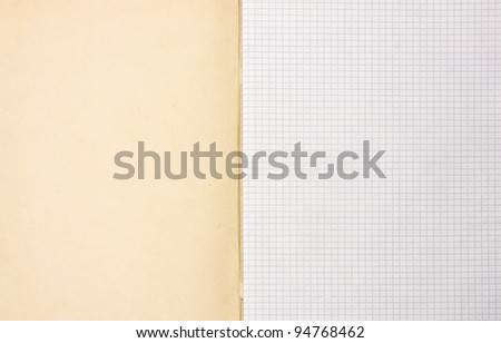 blank writing book sheets background - stock photo