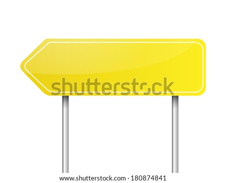 Blank yellow arrow road sign