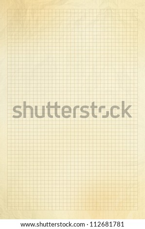 Blank yellow / gold squared paper sheet background or textured - stock photo