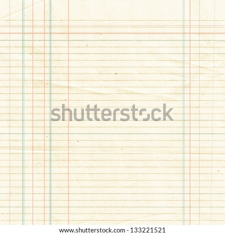 Blank yellow lined paper sheet background or textured - stock photo