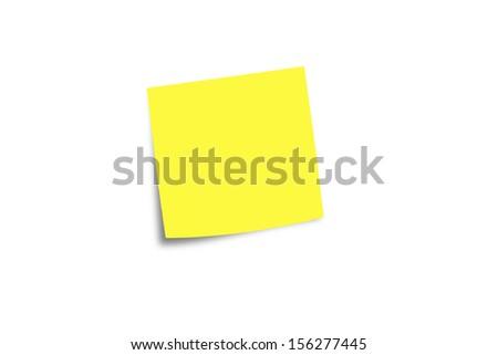 Blank Yellow note - stock photo