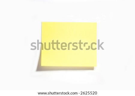 Blank yellow note