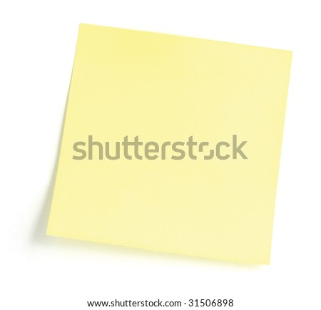 Blank Yellow To-Do List Sticky Note, Isolated Sticker - stock photo