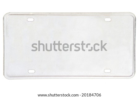 Blanked new vehicle license plate - stock photo
